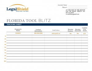 Tool Blitz tracking sheet form